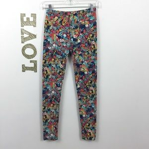 LULAROE COLORFUL ABSTRACT FLORAL LEGGINGS